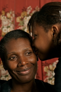 Young carer and mother